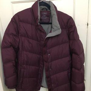 Purple LL Bean winter coat 1x Regular